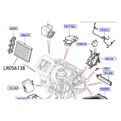 Filtru polen carbon activ Range Rover  Evoque Freelander 2  LR056138