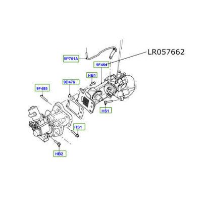Racitor EGR LR Freelander 2 Discovery Sport Range Rover Evoque LR057662