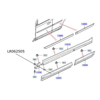 Bandou inferior usa fata dreapta Freelander 2 LR062505