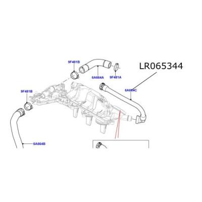 Furtun aerisire capac motor 2200 cc diesel LR Freelander 2 Discovery Sport Range Rover Evoque LR065344