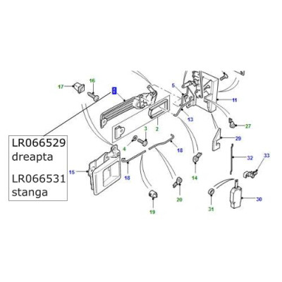 Maner usa fata stanga Land Rover Defender LR066531