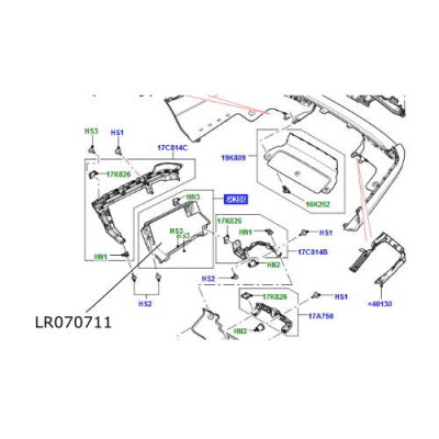 Scut termic esapament Range Rover L405 LR070711