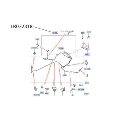 Actuator si cabluri frana mana LR Discovery 4 LR072318
