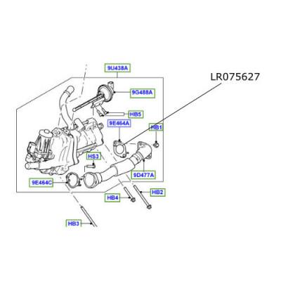 Garnitura conducta EGR Discovery 4 Range Rover LR075627
