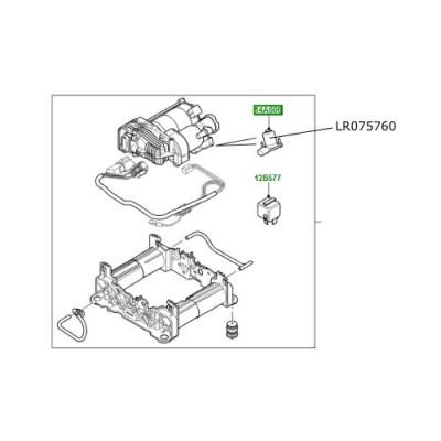 Valva bloc compresor suspensie Discovery 4 Range Rover L322 si Sport LR075760