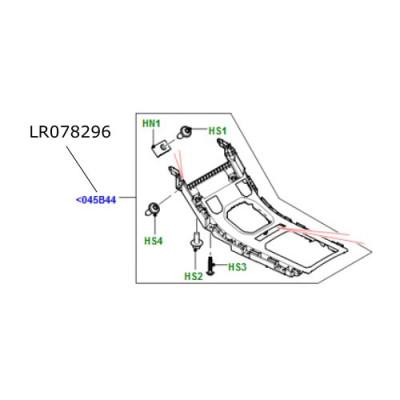 Ornament rama superior consola bord Range Rover Evoque LR078296