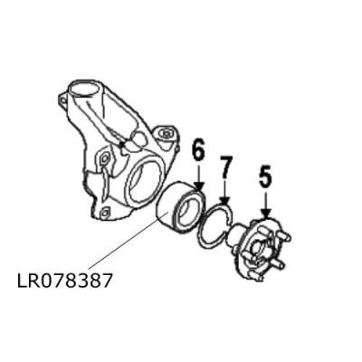 Rulment roata fata Range Rover Evoque Discovery Sport LR078387