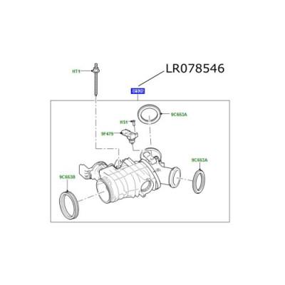 Clapeta acceleratie motor 3000cc diesel LR Discovery 5 Range Rover L405 Sport si Velar LR078546
