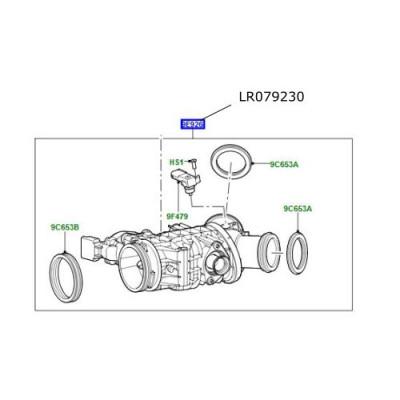 Clapeta acceleratie motor 3000cc diesel LR Discovery 4 Range Rover L405 si Sport LR079230