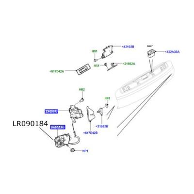 Actuator dreapta hayon inferior Range Rover L405 LR090184