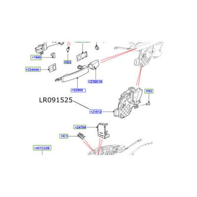 Broasca usa fata dreapta LR Discovery 4 Range Rover Sport si Evoque LR091525