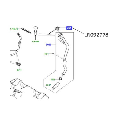 Buson umplere rezervor combustibil Range Rover L405 Sport si Evoque LR092778