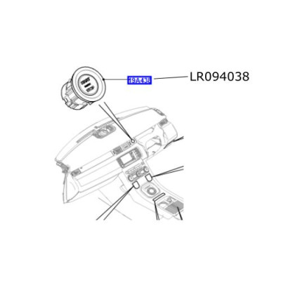 Buton start stop motor LR Discovery Sport Range Rover Evoque LR094038