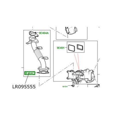 Garnitura conducta EGR 2.0L Land Rover Discovery Sport RR Evoque LR095555
