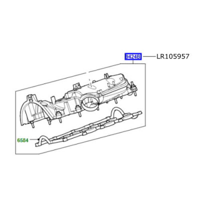 Galerie admisie dreapta motor 3000cc diesel Range Rover L405 si Sport LR105957 LR116732