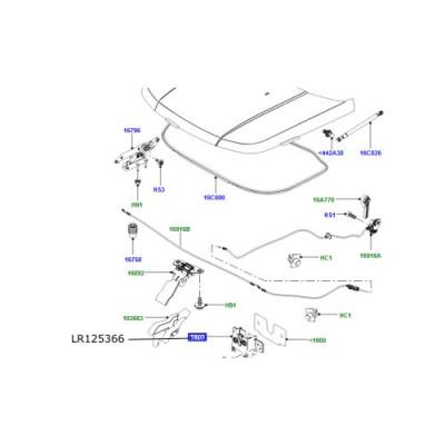 Switch capota motor Discovery 5 si Sport Range Rover L405 Sport Evoque si Velar LR125366