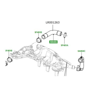 Furtun aer capac motor 2200cc diesel Freelander 2 Discovery Sport Range Rover Evoque LR001263