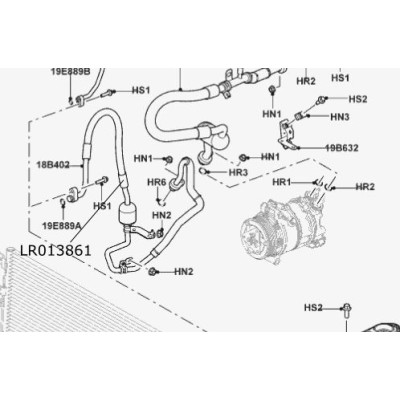 Furtun Aer Conditionat 3.0L V6 diesel Discovery 4 RR Sport LR013861