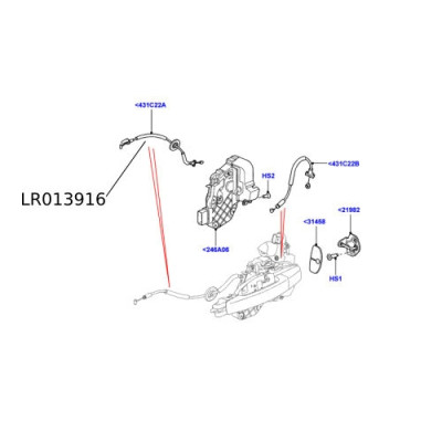 Cablu broasca Land Rover Discovery 4  LR013916