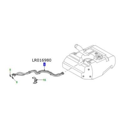 Conducta combustibil LR Defender de la 2009 LR016980