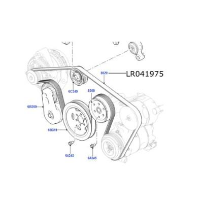 Curea transmisie agregate Range Rover Sport de la 2014 3.0 V6 diesel LR041975