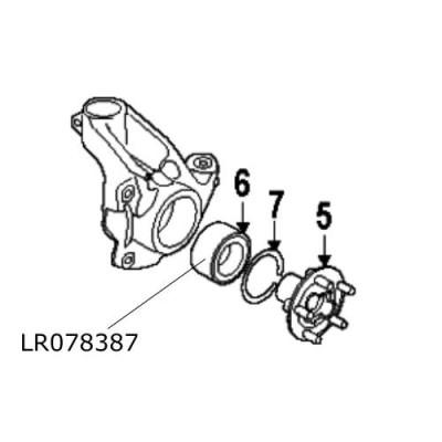 Rulment roata fata Land Rover Discovery Sport RR Evoque LR078387