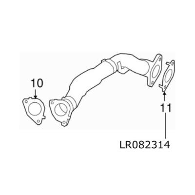 Garnitura conducta EGR motor 2.0 diesel Discovery 5 si Sport RR Evoque si Sport LR082314
