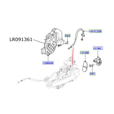 Broasca stanga spate Discovery 4 RR Evoque LR091361
