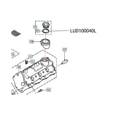 Simering buson ulei motor Freelander Discovery Defender LUD100040
