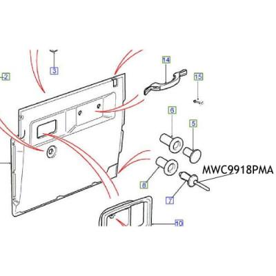 Surub tapiterie Defender MWC9918PMA