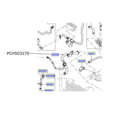 Furtun radiator Range Rover Sport 3600cc diesel PCH503270