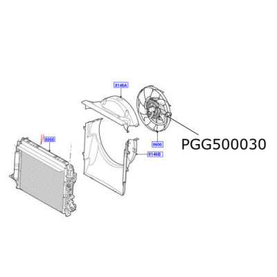 Elice ventilator cuplaj vascos Discovery 3 si 4  LR025965 PGG500030
