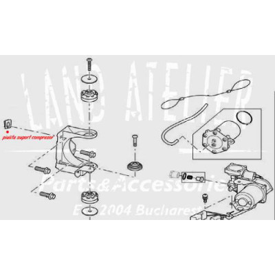 Piulita suport compresor suspensie RYH500170 Land Rover Discovery Range Rover