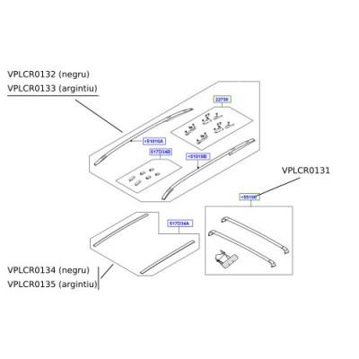 Bare longitudinale plafon fix Discovery Sport VPLCR0133
