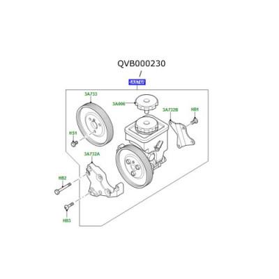 Pompa servo directie Range Rover L322 3000cc diesel QVB000230