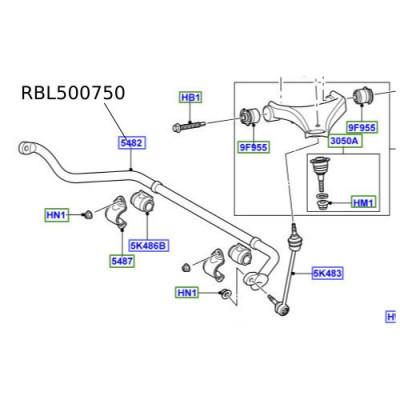Bara antiruliu LR Discovery 3 RBL500750