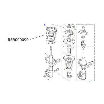 Arc suspensie fata Land Rover Freelander 1.8 benzina REB000090