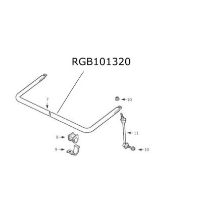 Bara stabilizatoare spate Discovery 2  RGB101320