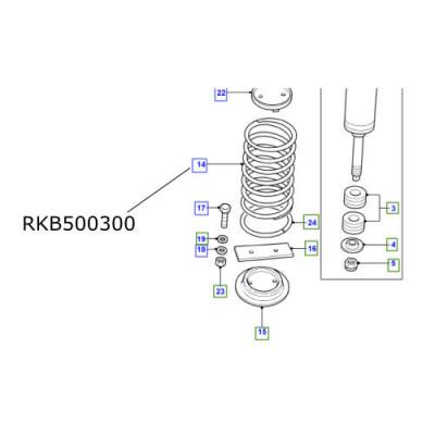 Arc suspensie spate Defender 110 de la 2007 RKB500300