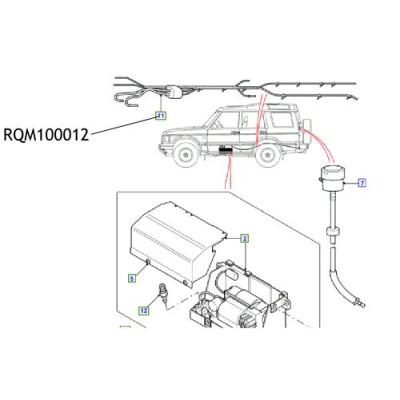 Instalatie electrica compresor suspensie Discovery Range Rover RQM100012