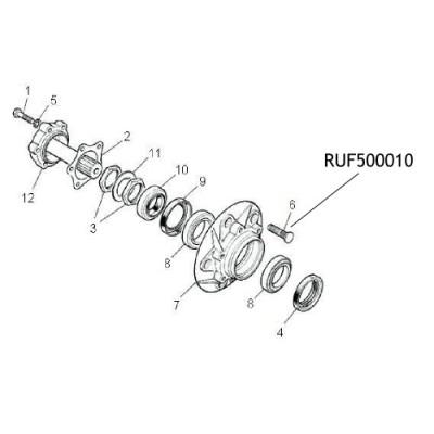 Prezon roata Land Rover Defender LR Discovery 1 RUF500010