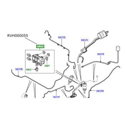 Bloc valve suspensie spate LR Discovery 3 si 4 Range Rover Sport RVH000055
