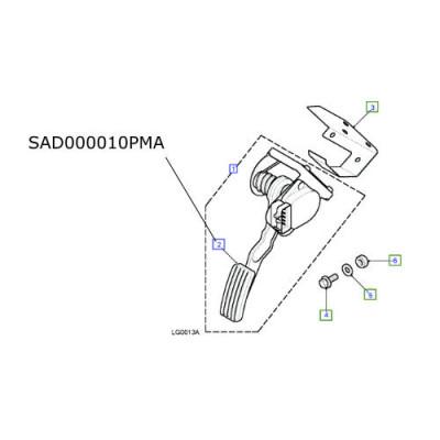Cauciuc pedala acceleratie LR Defender TD5 si Puma SAD000010PMA