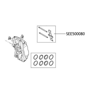 Kit sigurante placute frana Range Rover SEE500080