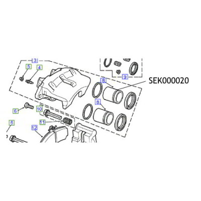 Piston etrier Land Rover Discovery SEK000020