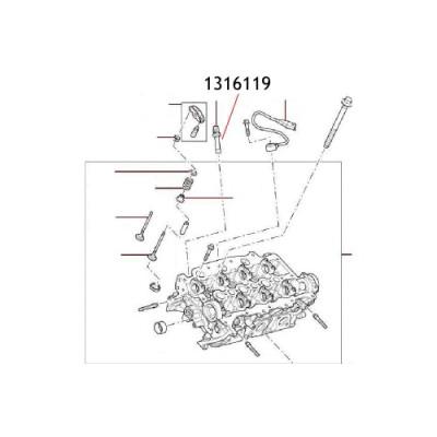 Senzor presiune ulei 1316119 Land Rover Discovery Range Rover