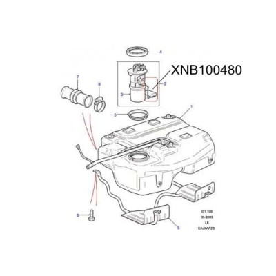 Senzor nivel combustibil XNB100480 Land Rover Freelander