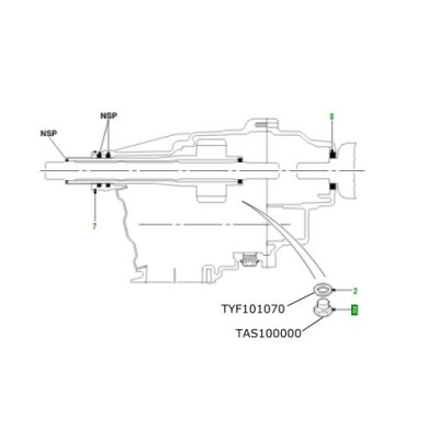 Buson ulei cutie transfer LR Freelander 1 TAS100000