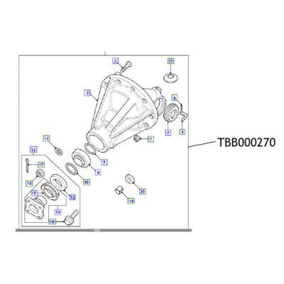 Diferential ansamblu Defender Range Rover TBB000270