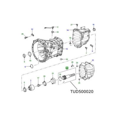 Ax iesire cutie viteze LR Defender Puma de la 2007 TUD500020